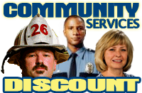 Community Service Discounts